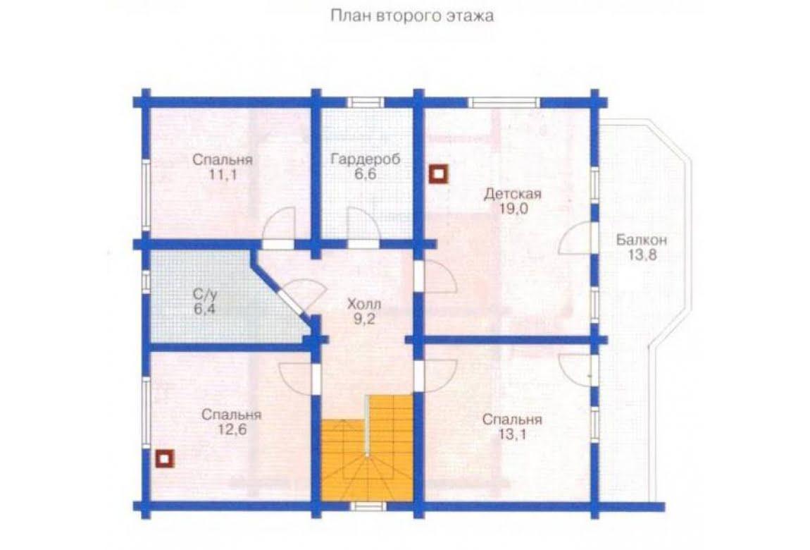 План N1 проекта дома из клееного бруса АСД-1347