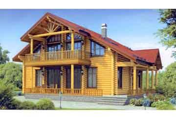 Дом из бревна АСД-1348