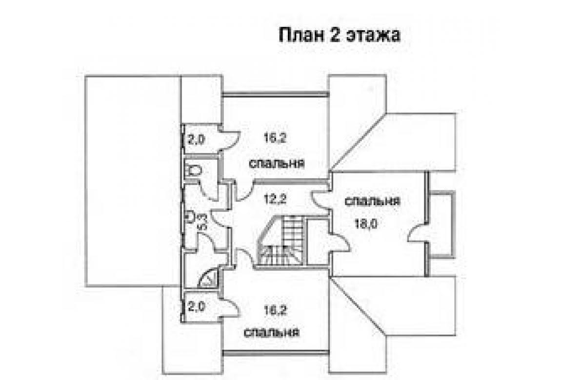 План N2 проекта дома из бревна АСД-1349