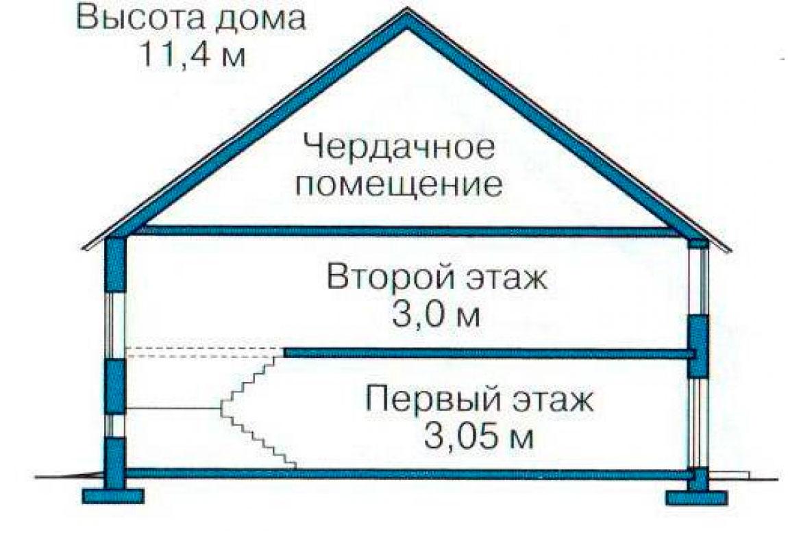 План N3 проекта кирпичного дома АСД-1035