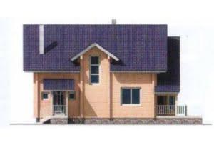 Проект дома из клееного бруса 10-55