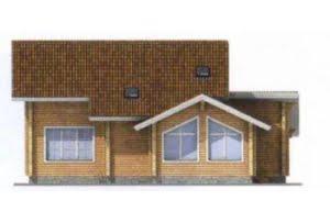 Проект дома из клееного бруса 11-74