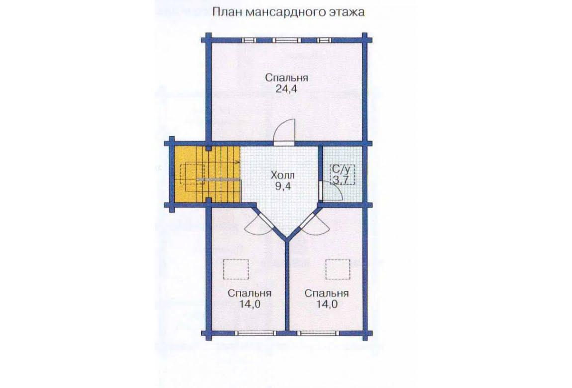 План N1 проекта дома из клееного бруса АСД-1354