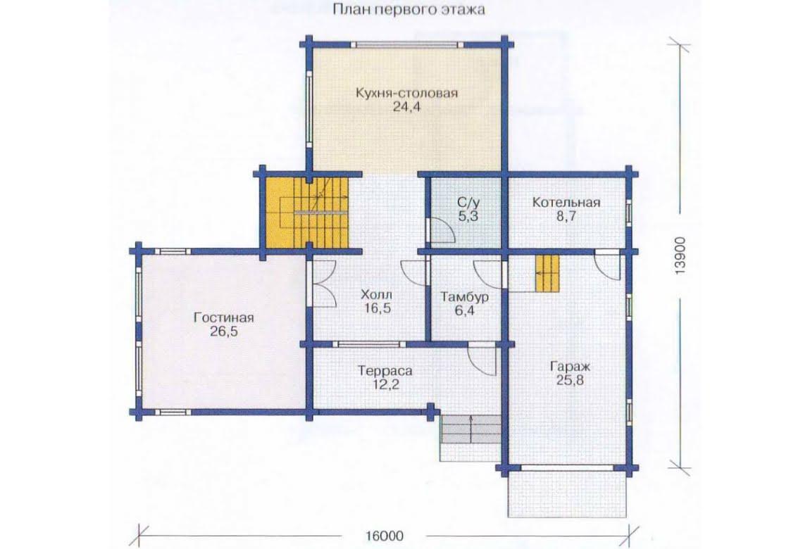 План N2 проекта дома из клееного бруса АСД-1354