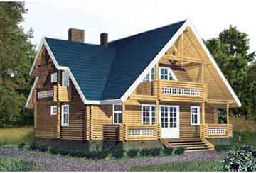 Дом из бревна АСД-1355