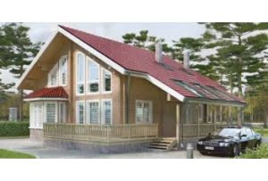 Деревянный дом из клееного бруса по проекту 11-03