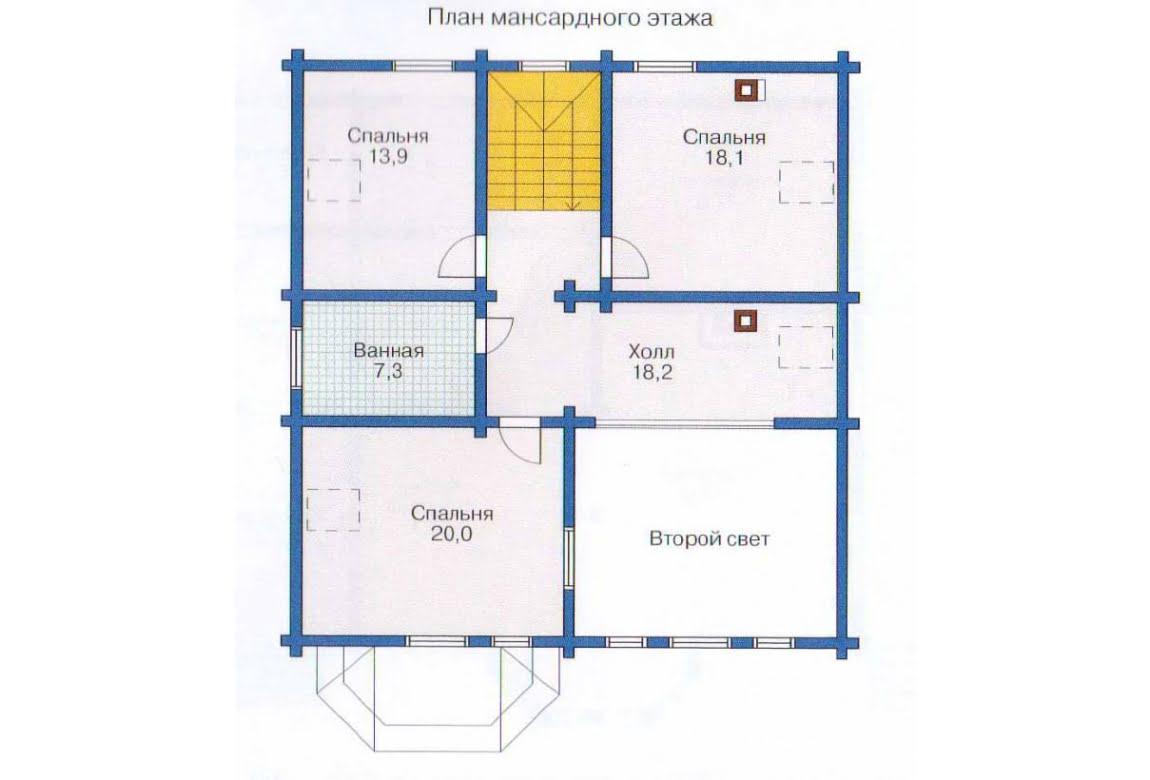План N1 проекта дома из клееного бруса АСД-1356