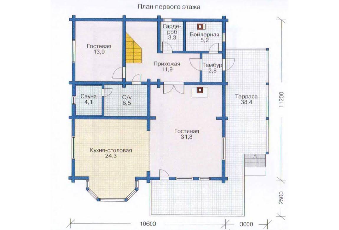 План N2 проекта дома из клееного бруса АСД-1356