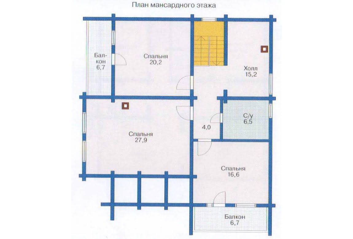 План N2 проекта дома из клееного бруса АСД-1357