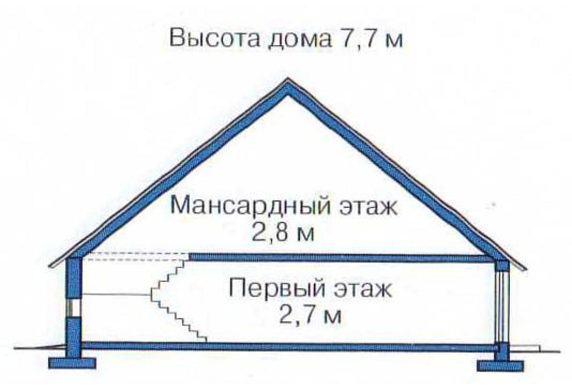 План N3 проекта дома из клееного бруса АСД-1357