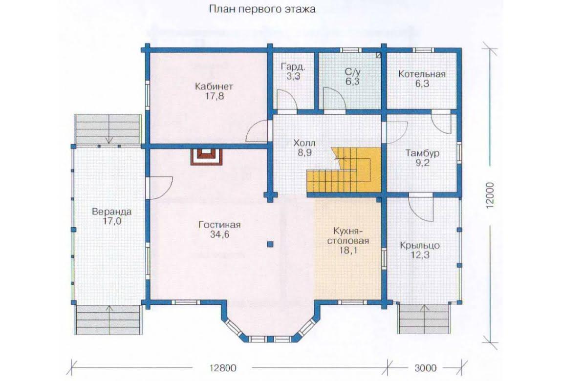 План N1 проекта недорогого дома АСД-1359