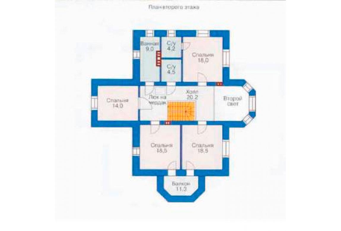 План N2 проекта кирпичного дома АСД-1036