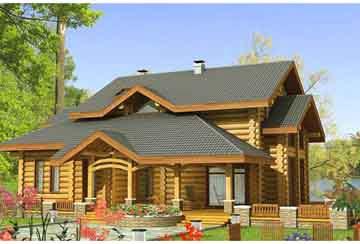 Дом из бревна АСД-1360