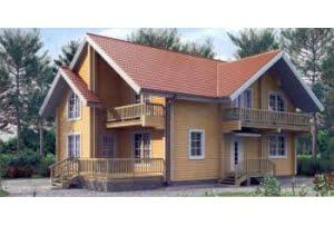 Деревянный дом из клееного бруса по проекту 11-00