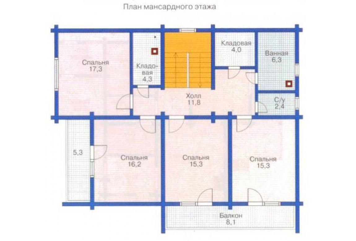 План N2 проекта дома из клееного бруса АСД-1361