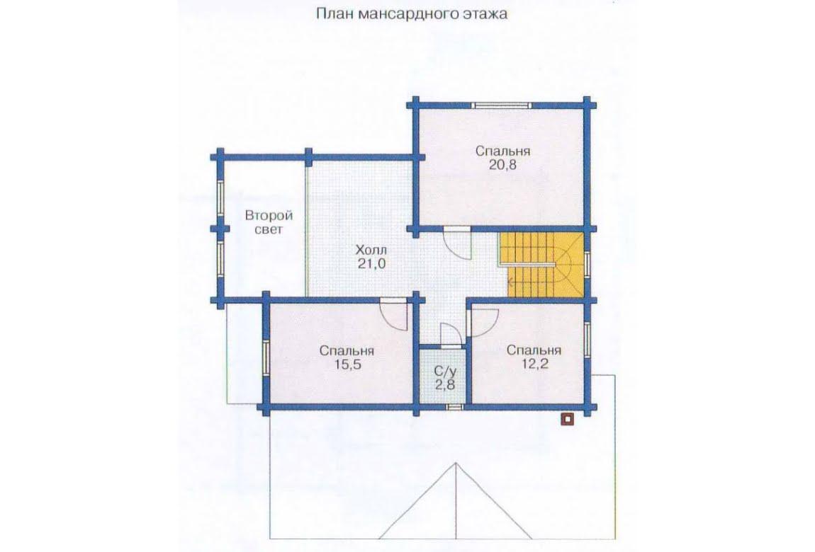 План N2 проекта дома из клееного бруса АСД-1362