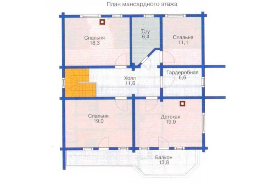 План N2 проекта дома из клееного бруса АСД-1364