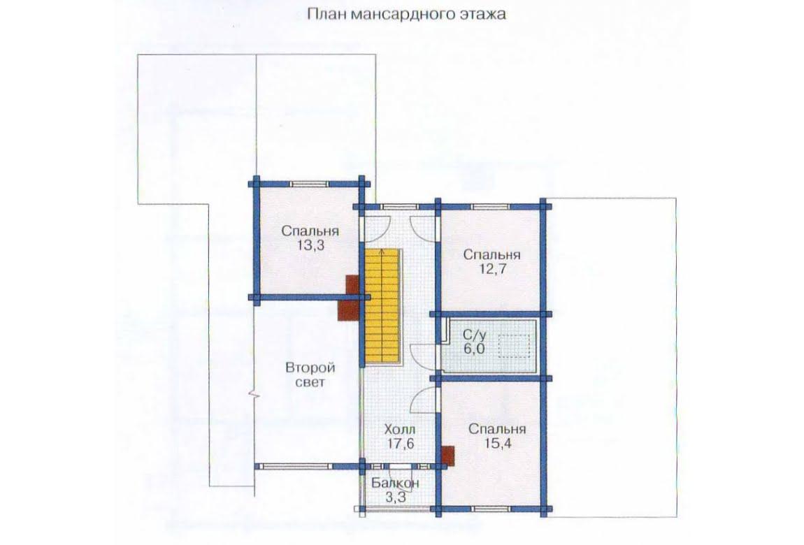 План N1 проекта дома из клееного бруса АСД-1366