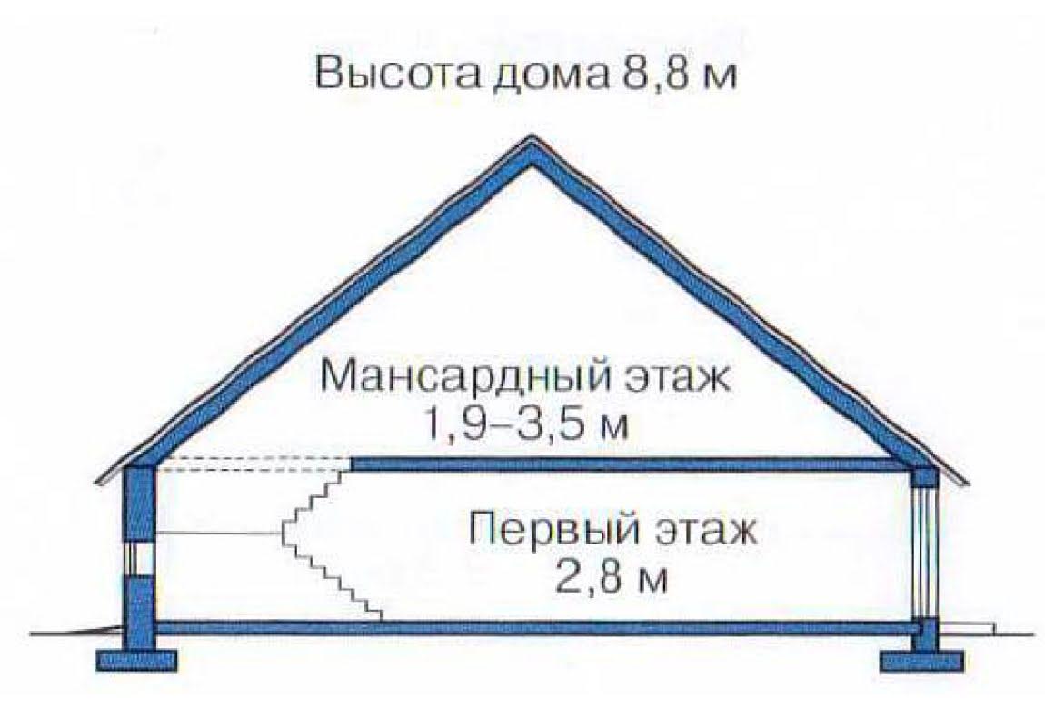 План N3 проекта дома из клееного бруса АСД-1366