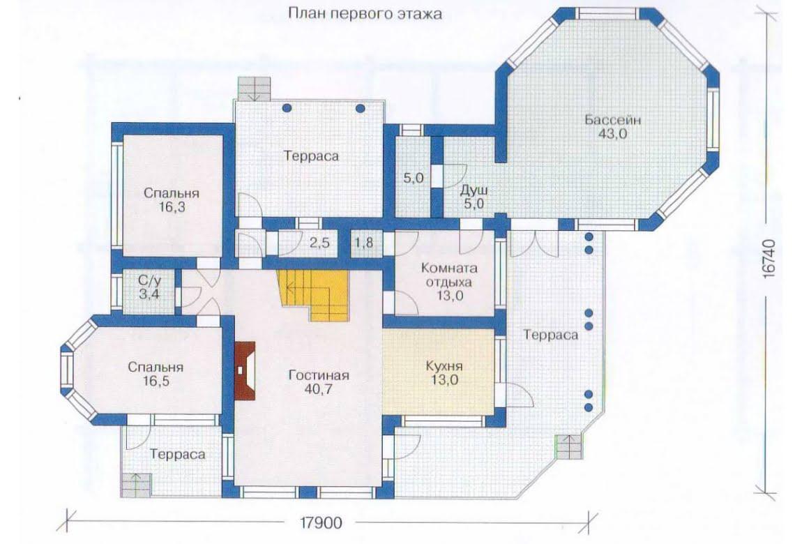 План N2 проекта дома из бревна АСД-1368