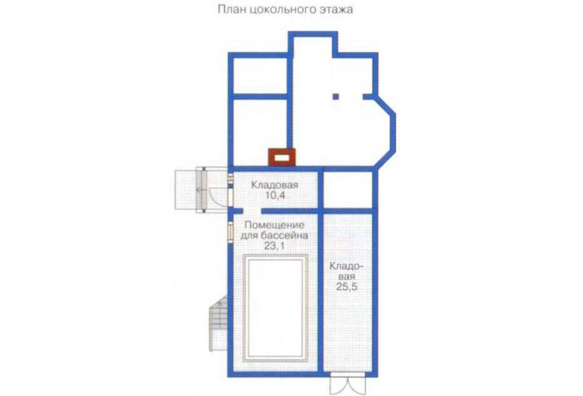 План N1 проекта дома из бревна АСД-1369