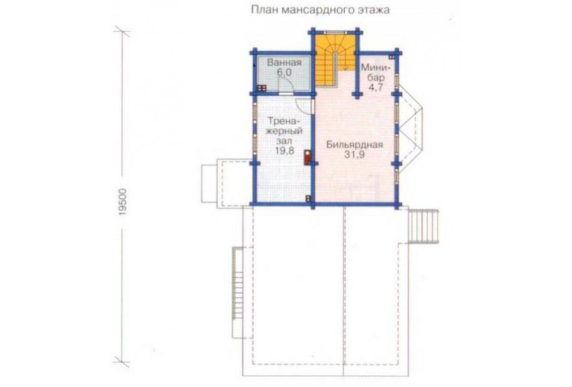 План N3 проекта дома из бревна АСД-1369