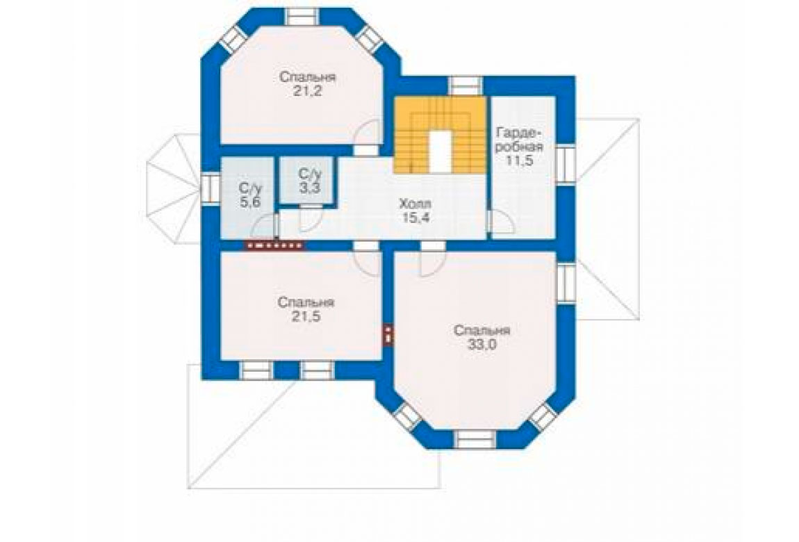 План N3 проекта кирпичного дома АСД-1037