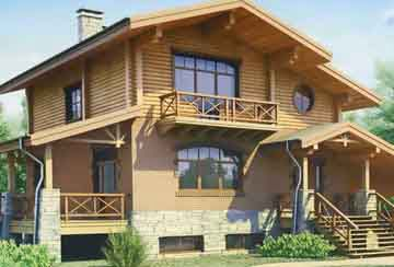 Дом из бревна АСД-1370
