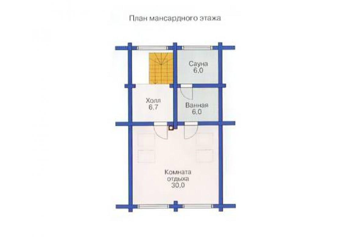План N3 проекта дома из бревна АСД-1371