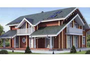 Дом из бревна АСД-1374