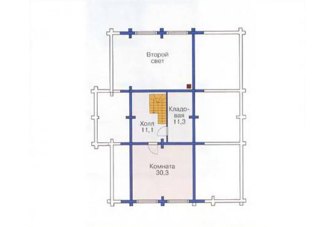 План N3 проекта дома из бревна АСД-1374