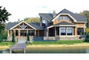 Деревянный дом из клееного бруса по проекту 12-19