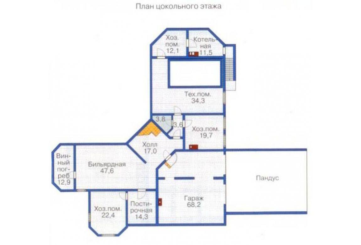 План N1 проекта ВИП дома АСД-1375