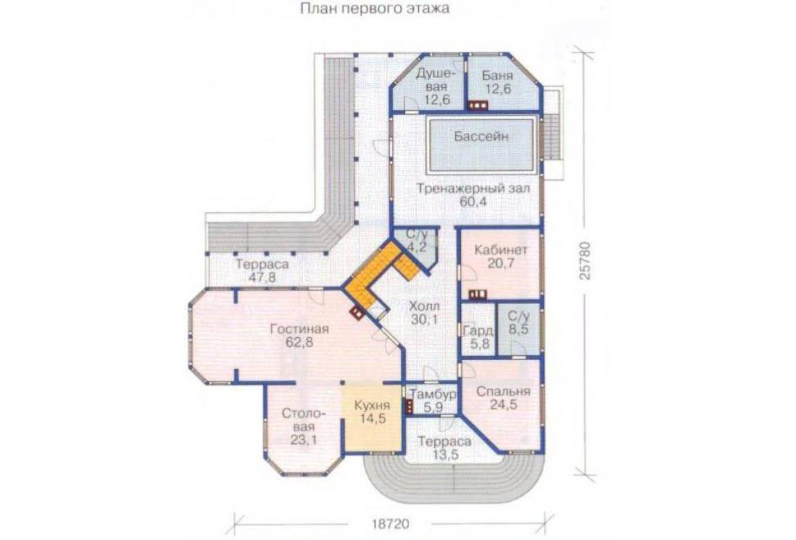 План N2 проекта ВИП дома АСД-1375