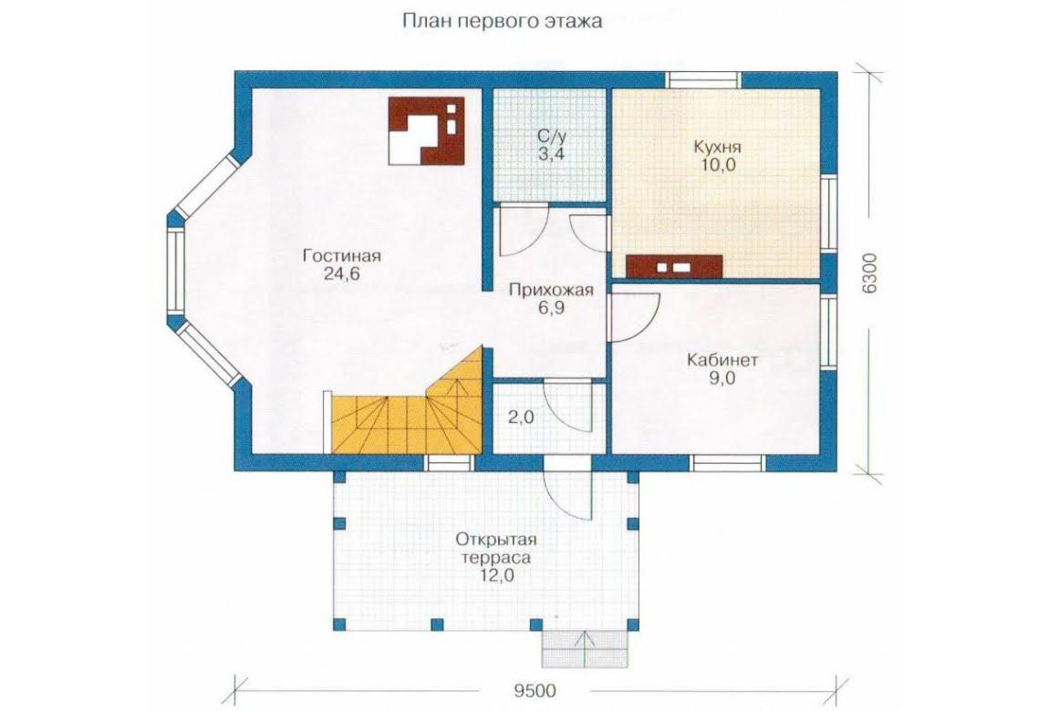 План N1 проекта каркасного дома АСД-1376
