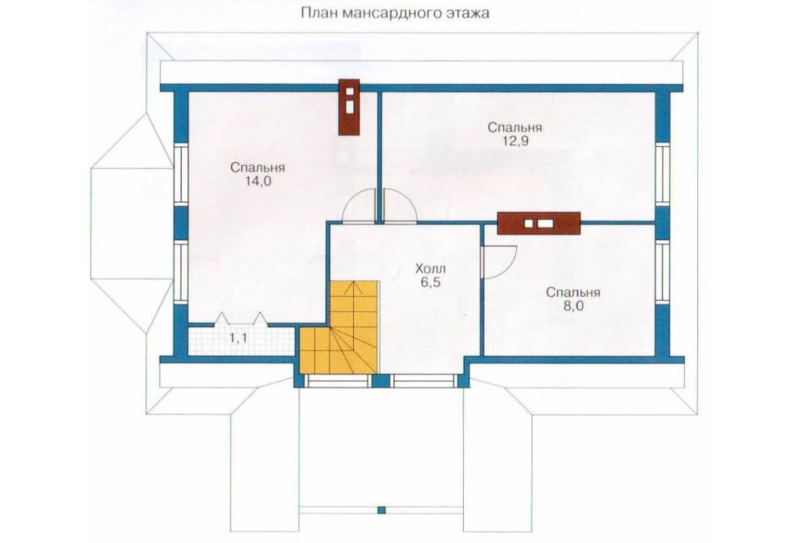 План N2 проекта каркасного дома АСД-1376