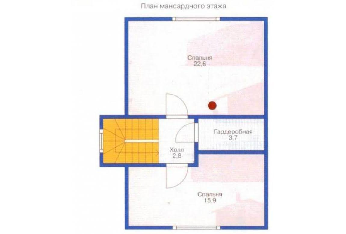 План N1 проекта каркасного дома АСД-1377