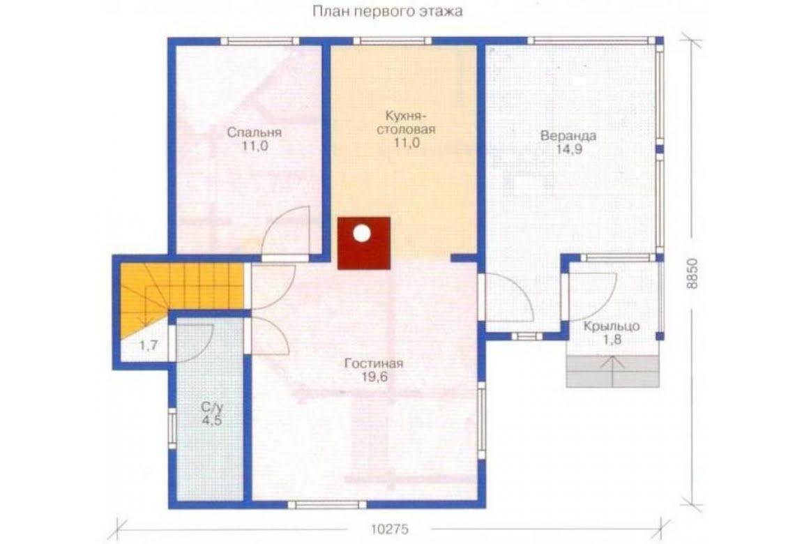 План N2 проекта каркасного дома АСД-1377