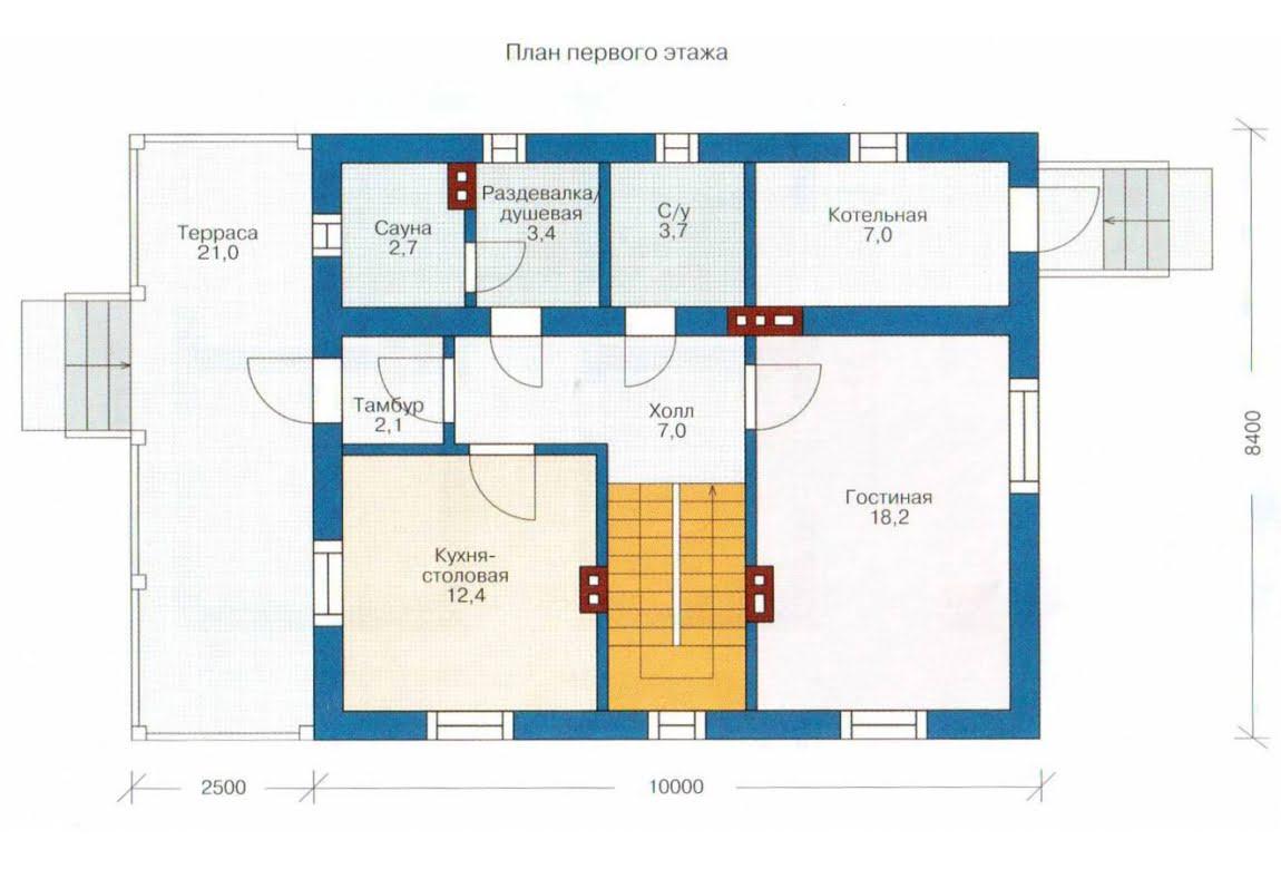 План N1 проекта каркасного дома АСД-1379