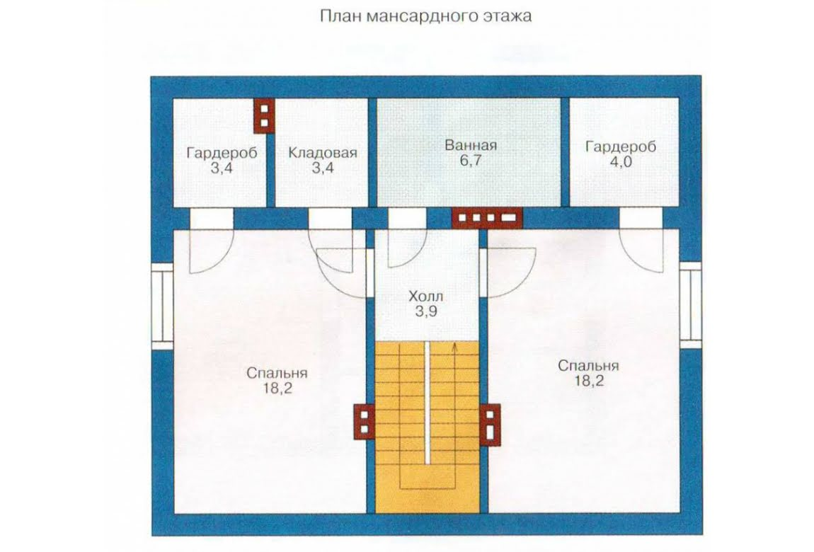 План N2 проекта каркасного дома АСД-1379