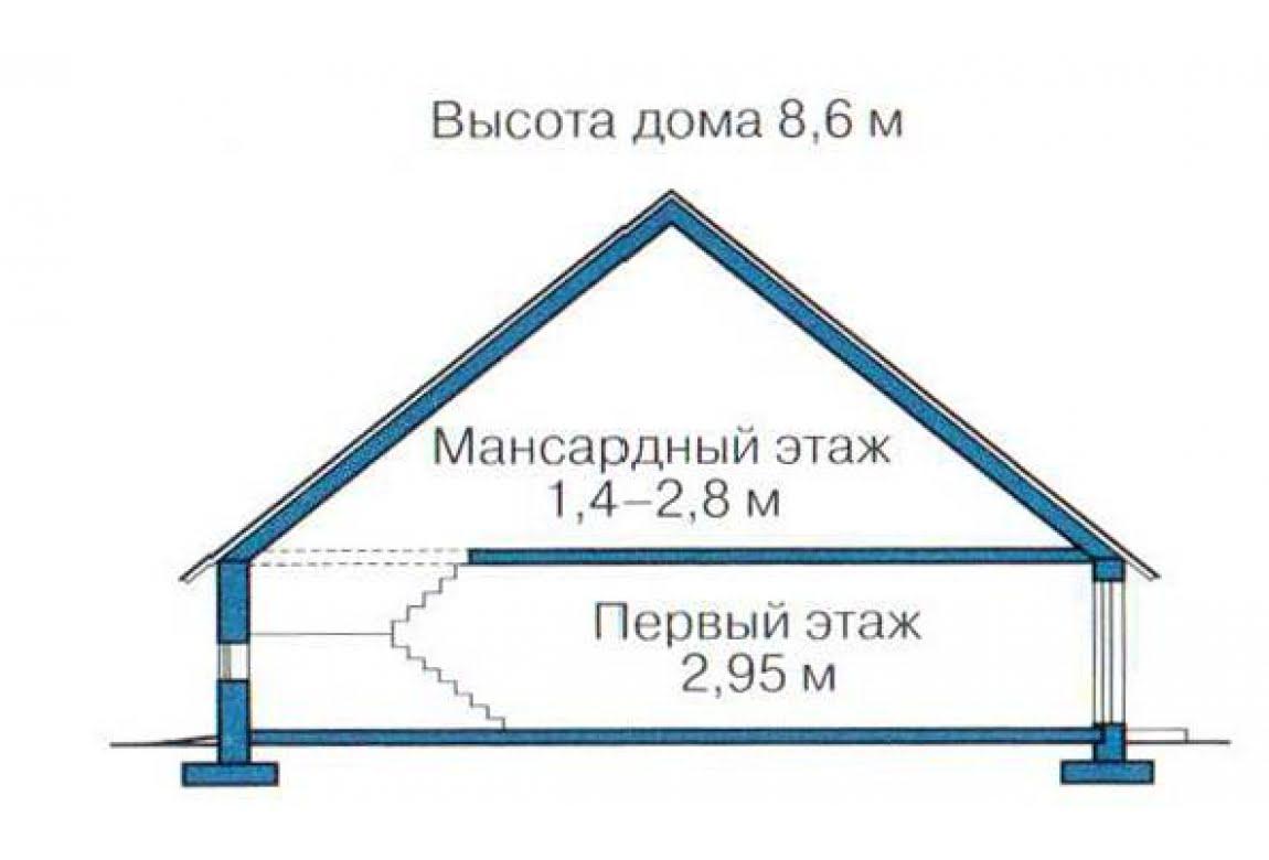 План N3 проекта каркасного дома АСД-1379