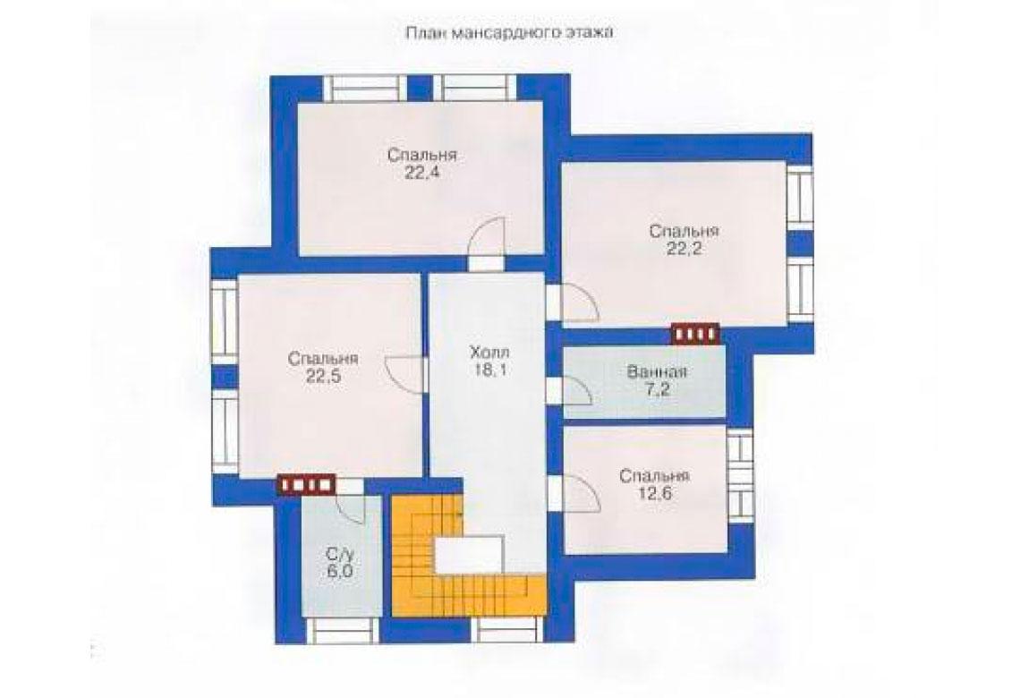 План N2 проекта кирпичного дома АСД-1038