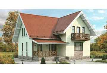 Каркасный дом АСД-1381