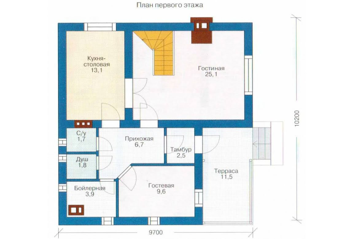 План N1 проекта каркасного дома АСД-1381