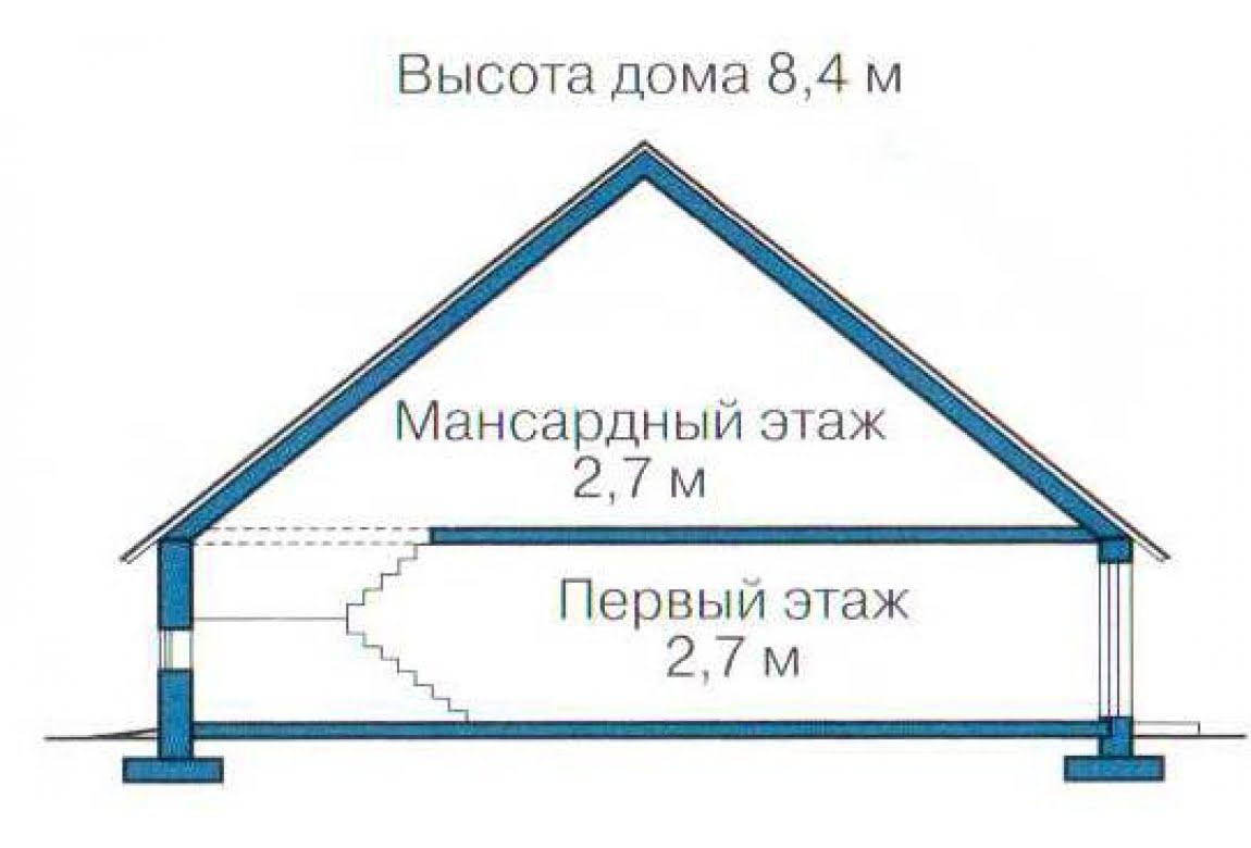 План N3 проекта каркасного дома АСД-1381
