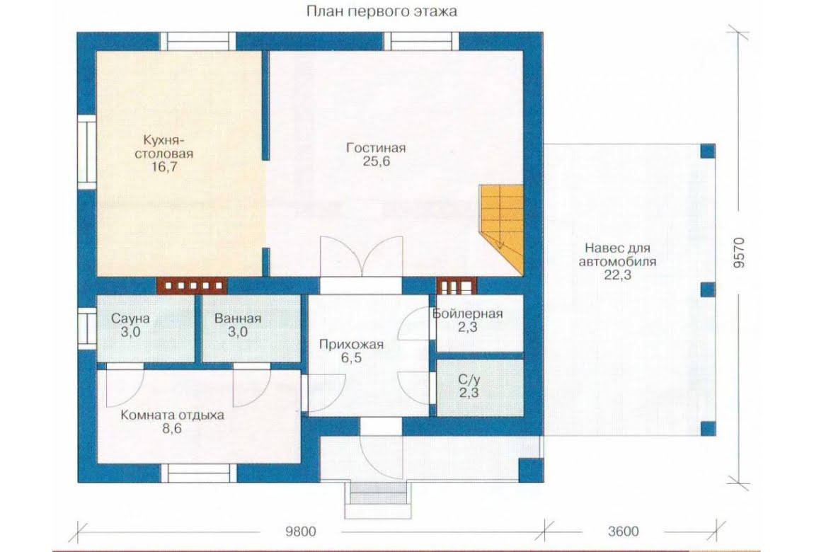 План N1 проекта каркасного дома АСД-1382