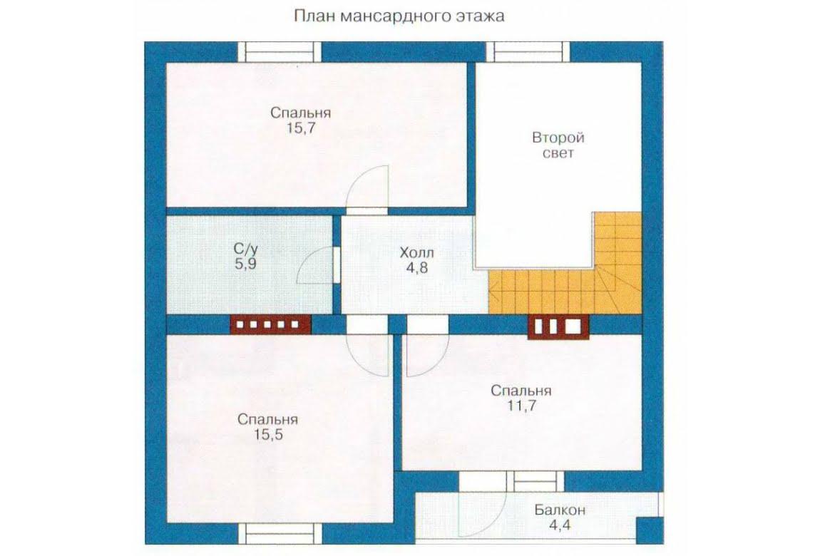 План N2 проекта каркасного дома АСД-1382
