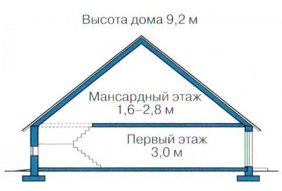 План N3 проекта каркасного дома АСД-1382