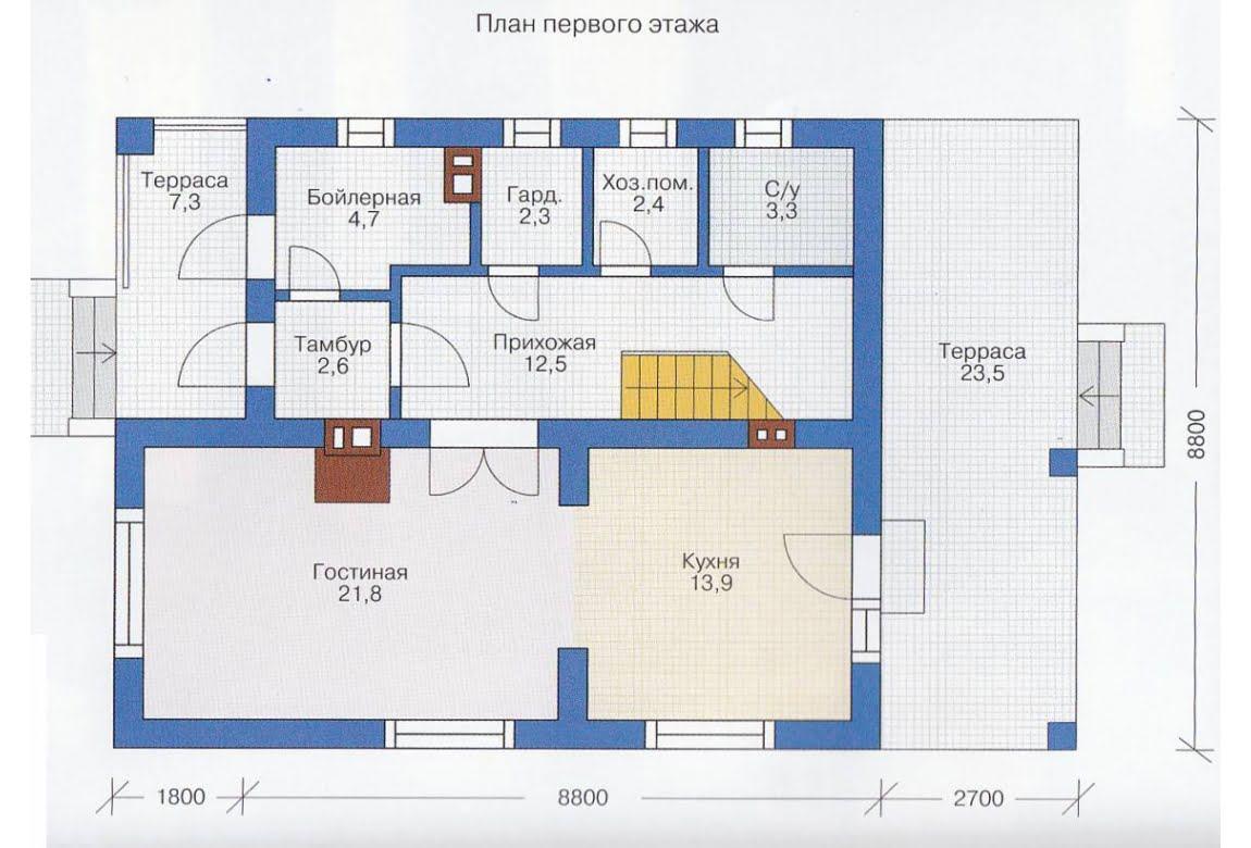 План N2 проекта каркасного дома АСД-1383