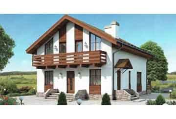 Каркасный дом АСД-1384